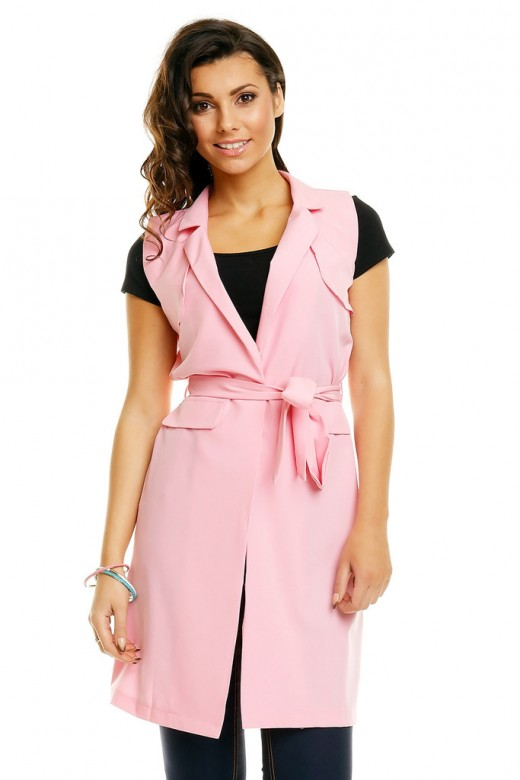 Miliana Cardigan Vest In Sleeveless Pink