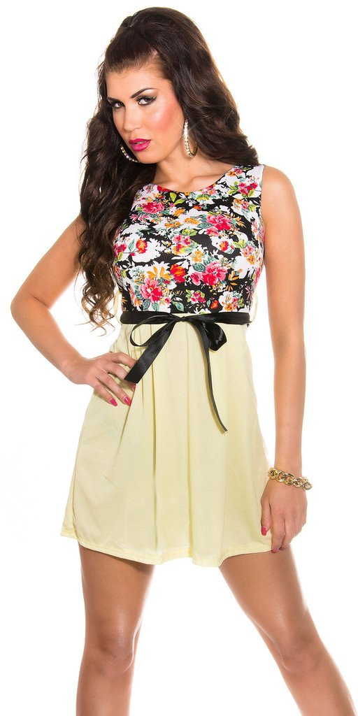 Marya Skater Floral Print Mini Dress