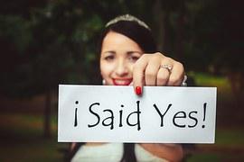 A happy bride-to-be.