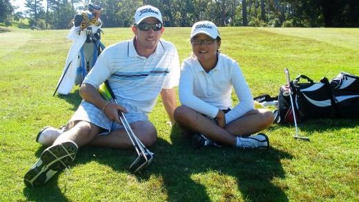 Lydia Ko and coach Guy Wilson
