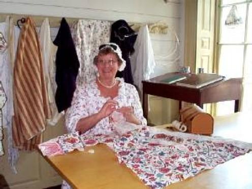 The dressmaker at her craft