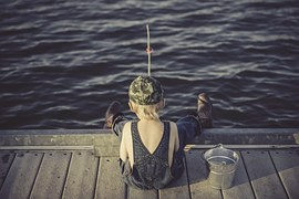 What little boy doesn't love fishing from a pier or even a creek bank?