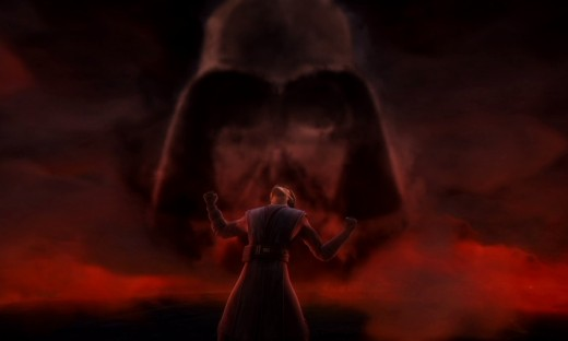 Anakin suffering through visions of his future as a Sith Lord in an episode of 'Star Wars: The Clone Wars'