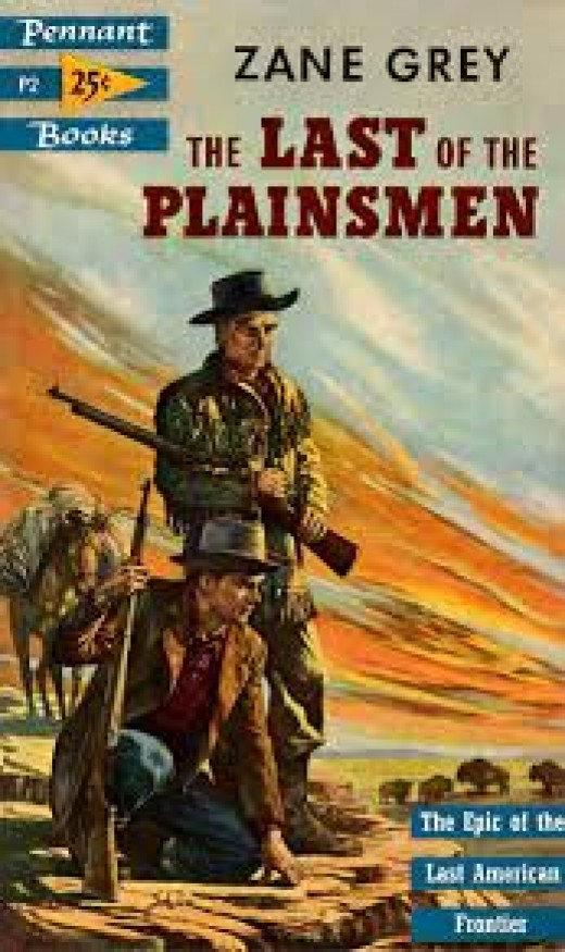 A typical Western cover to a story by Zane Grey.