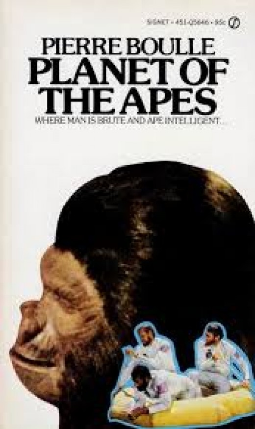 The paperback based on Planet Of The Apes.