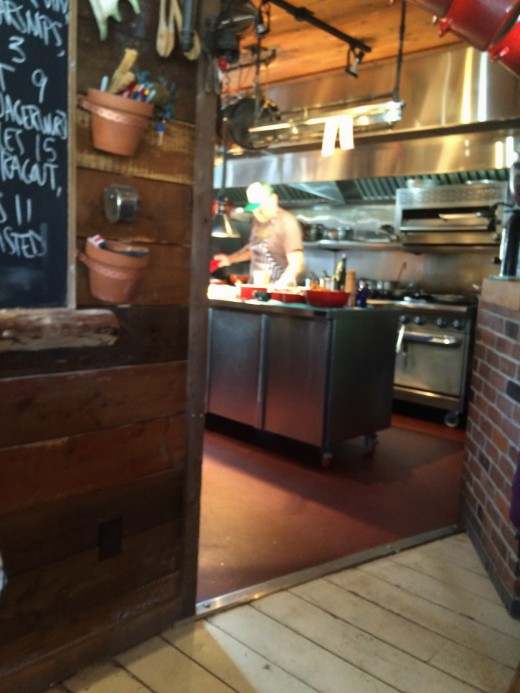 The chef at work, Todd Perrin, Mallard Cottage