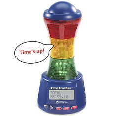 You can buy timers like this that your child can take into time-out with them so they know how much time they have left. It can also help calm them by giving them something to focus on.