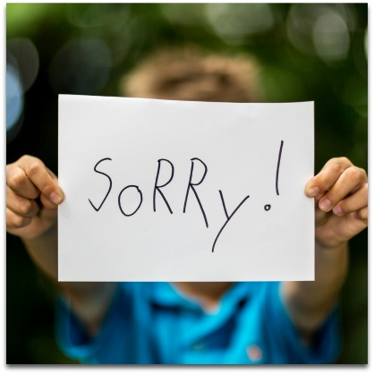 Being able to sincerely apologize for their wrong doings is an important trait that your child will need in the adult world.