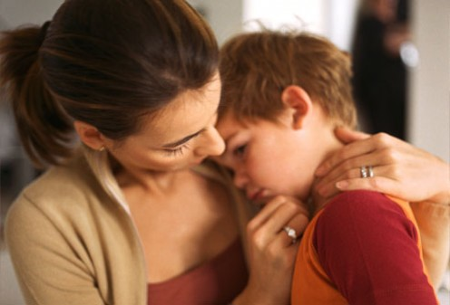 Hugging your child lets them know that you still love them despite their behaviour.