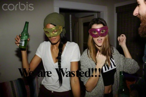 With or without a mask, if you drink too much beer, you will BE drunk.