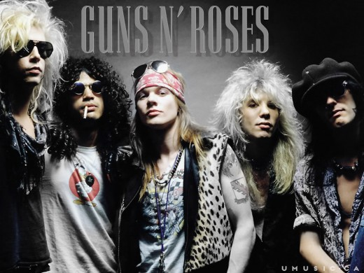 Guns and Roses featuring Axl Rose.