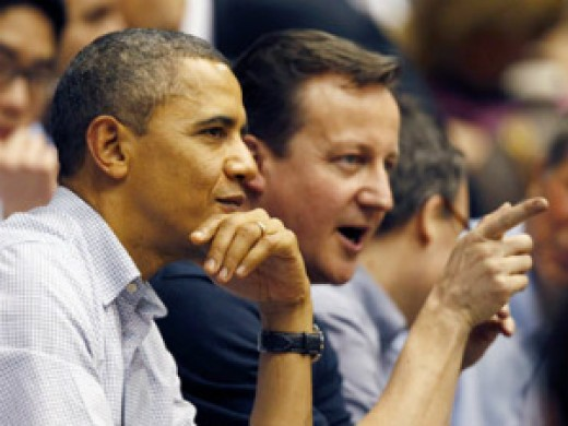 Architects of NATO withdrawl Cameron and Obama.  Although the Americans still have a presence in Afghanistan.