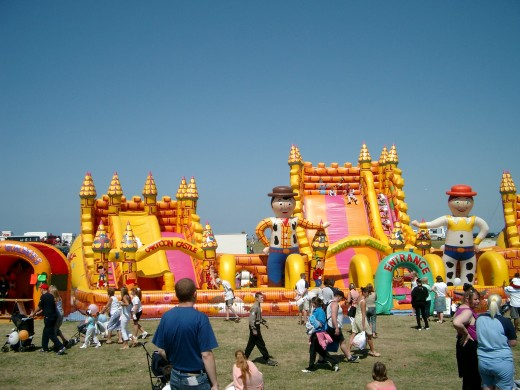 Bouncy castle at a community day/festival