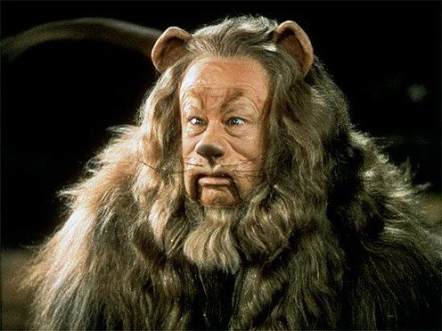 "Arguably the best example of cowardice was in the role of ""The Cowardly Lion,"" played by Hollywood legend, Bert Lahr."