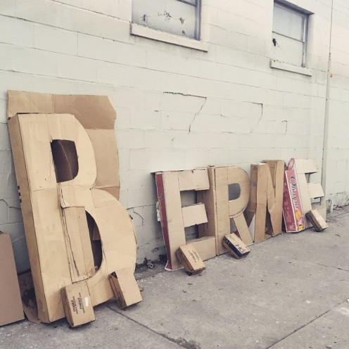 Read the story behind these letters (below). They are created by a homeless man in Los Angeles.