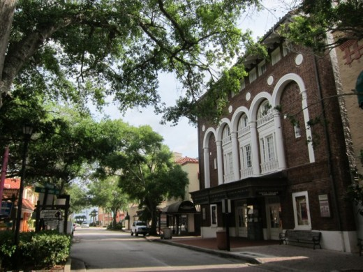Historic downtown Cocoa, Florida
