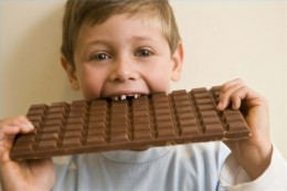 Chocolate bars and lollipops often trigger allergic reactions and are bad for kids' teeth