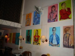 Exhibition at Writer's Pub, Chiang Mai, Thailand