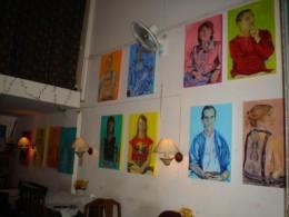 Exhibition at Writer's Pub, Chiang Mai, Thailand
