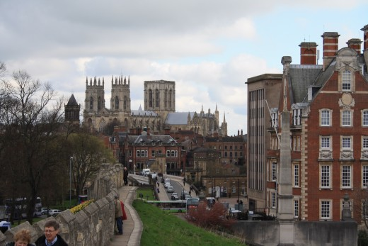 city wall with a view of York Minster