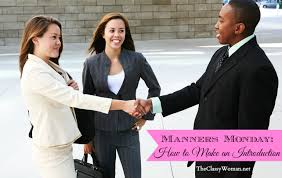 Today, women in the workforce are expected to introduce new employees to sales executives and other dignitaries.