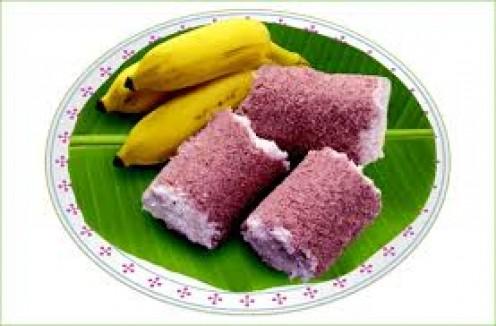puttu and banana combination