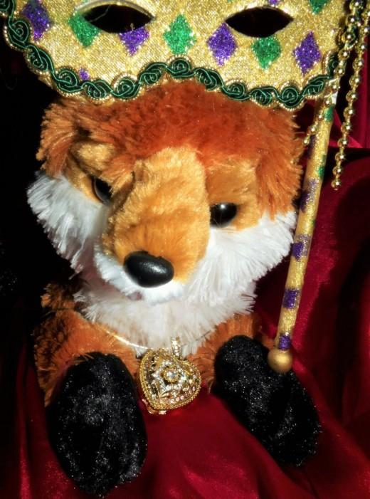 Like my foxy pal? This is actually Loki's altar fox, and he'll be making some costume changes and acting as our guide through the wonderful world of fox totems.
