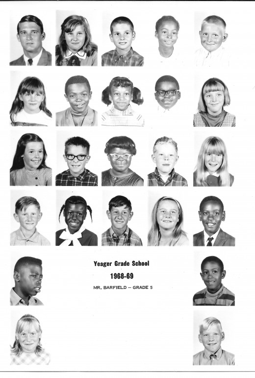 Yeager Grade School - 5th Grade - 1969 (not South Elementary)