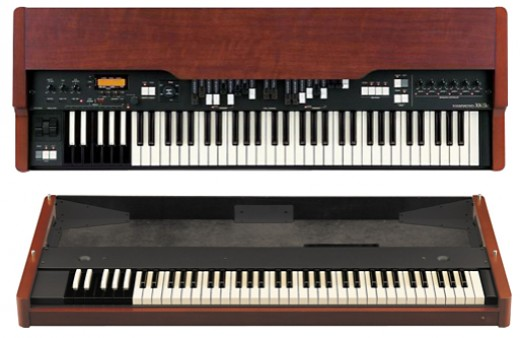 Here we show the two elements of the Hammond XK3 system (the upper and lower modules).
