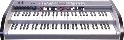 Here we show the Crumar GSi DMC-122 - an organ-like MIDI controller that is bundled with a software editor incorporating VB3 Version 2 (a brilliant Hammond simulation).