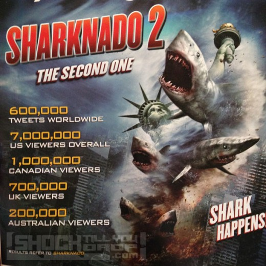 "Promotional poster for ""Sharknado 2: The Second One"""