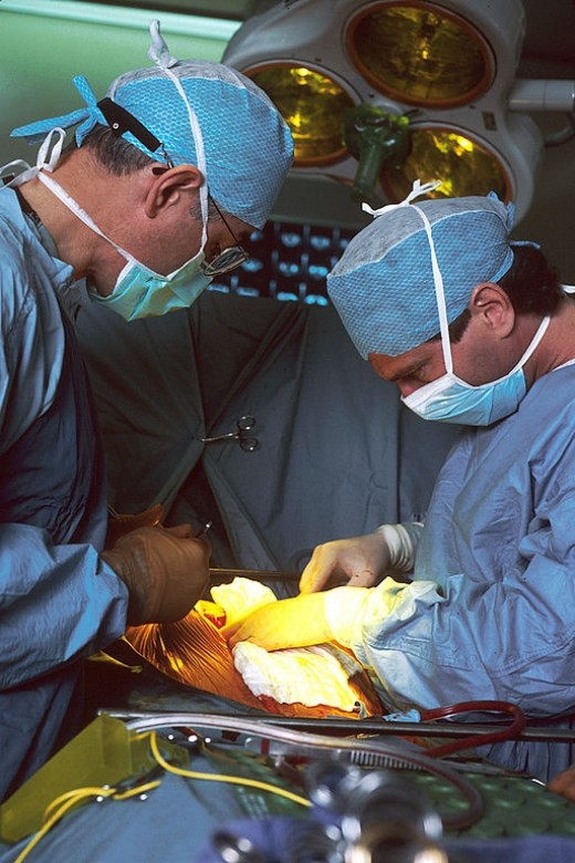 Surgeons at work in the operating room