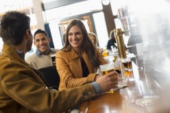Be civil, low spoken, when meeting new people in a bar.