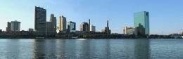 Skyline of Toledo, Ohio, looking across the Maumee River