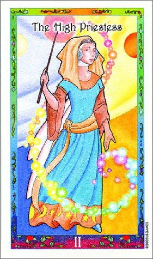 The High Priestess Card from the Whimsical Tarot deck by by Dorothy Morrison (Author), Mary Hanson-Roberts (Illustrator)