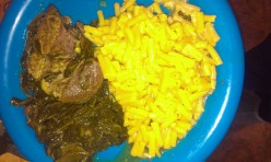 Two Pots-Pot Roast, Collard Greens, and Mac-n-Cheese
