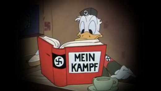 Walt Disney's early drawings consisted of Nazi propoganda