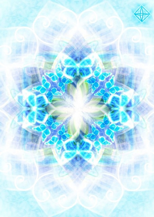 This is an example of the way angel mandala can look like.
