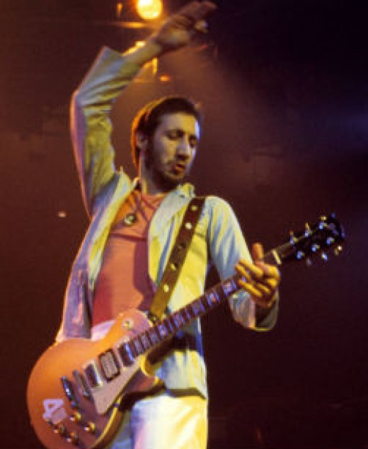 Pete Townshend playing a modified Gibson Les Paul