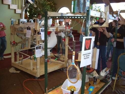 A Rube Goldberg machine