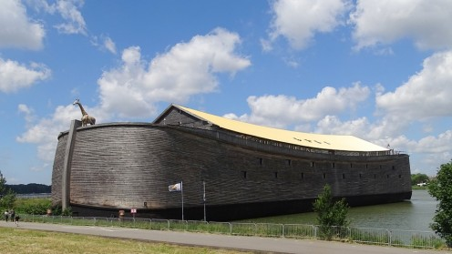 Model of Noah;s Ark built to Biblical full scale measurements in The Netherlands.