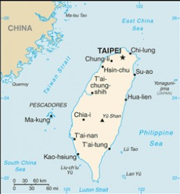 Taiwan is an island situated off the southeastern coast of China.