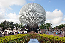 The Spaceship Earth icon of Epcot Center at Disney World