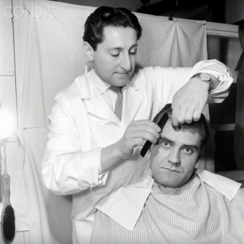 Barbers were expected to be able to cut men's hair to match the styles of their favorite movie stars