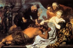 Samson in the hands of the Philistines
