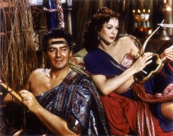 """Victor Mature, Hedy Lamaar, in scene from """"Samson and Delilah"""""""