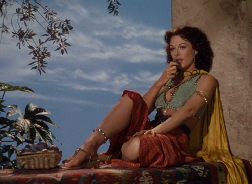 "A stunning Hedy Lamaar as ""Delilah,"" in the 1949 film, ""Samson"" and ""Delilah"""