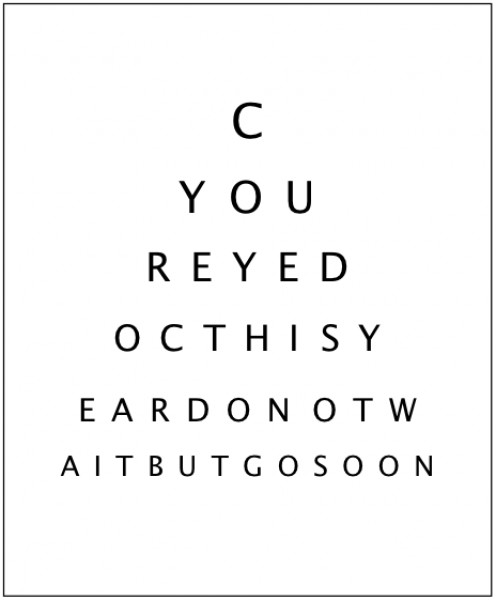 See your eye doctor this year!  Don't wait!  Go soon!
