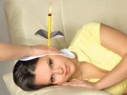 Proper ear candling procedure.
