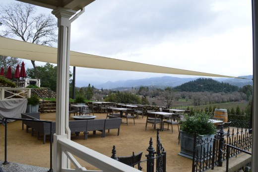 St. Clement tasting terrace
